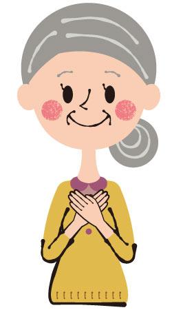年配女性イメージ画像