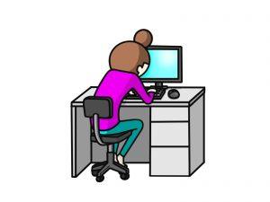 パソコン作業で同じ姿勢